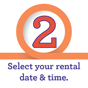 Step 2 - Select Your Rental Date & Time