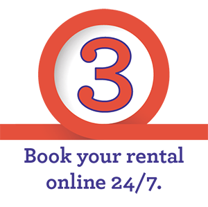 Step 3 - Book Your Rental Online 24/7