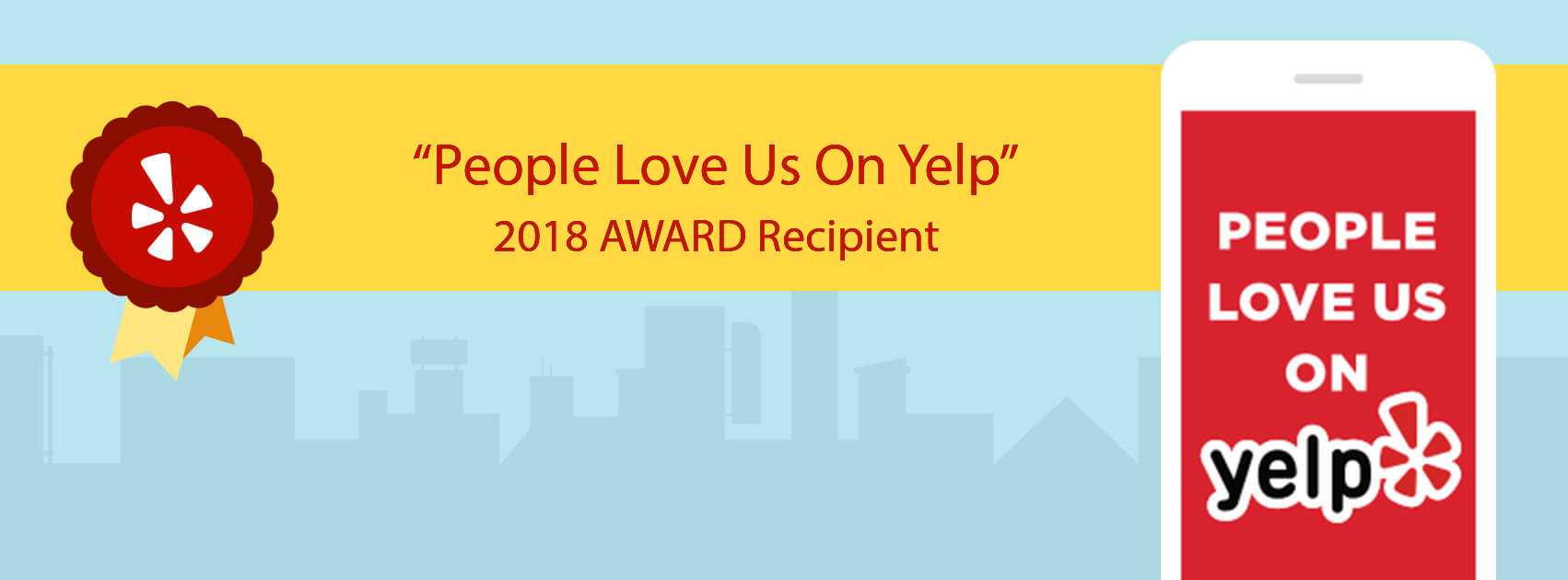 People Love Us on Yelp 2017 Award Winner