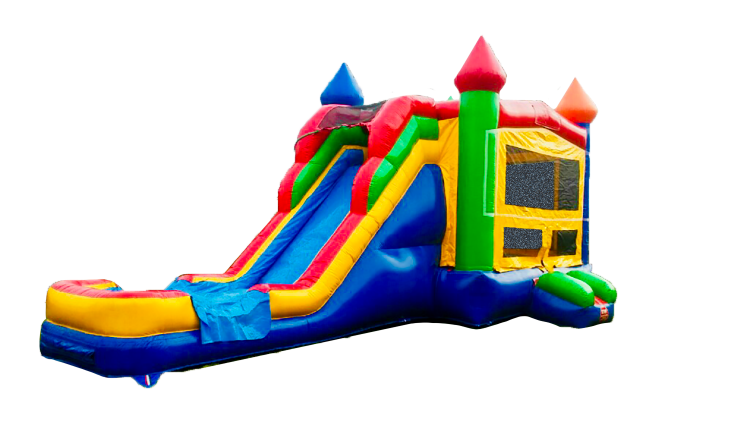 MULTI DRY OR WATER SUPERSLIDE 5 N 1 BOUNCE COMBO 100+THEMES
