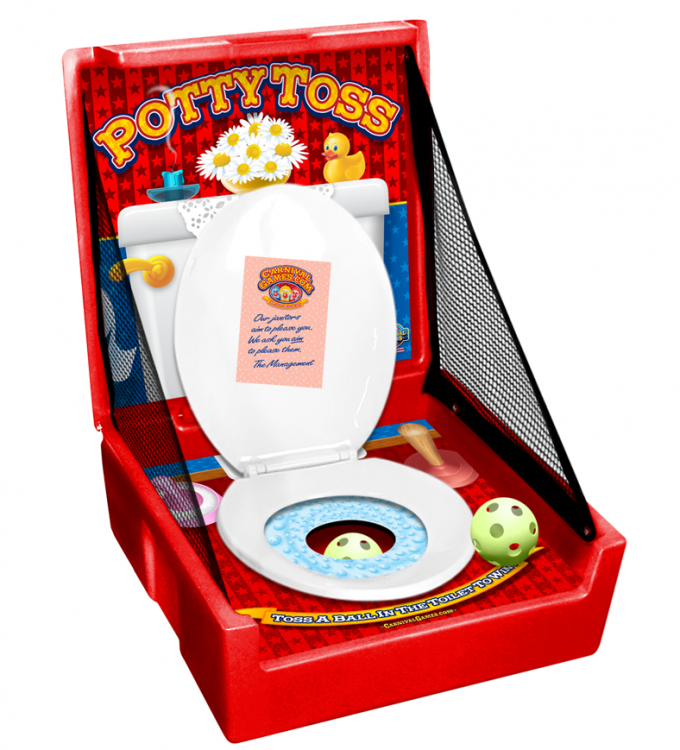 CARNIVAL GAME- Potty Toss