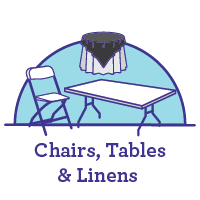 Chairs, Tables & Linens