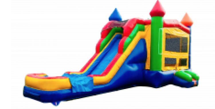 MULTICOLOR SUPERSLIDE 5 IN 1 BOUNCE COMBO