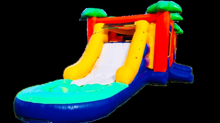 Paradise Waterslide Bounce Combo
