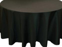 Black 60 Round Table Linen