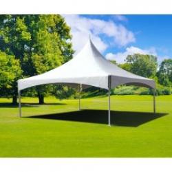 White 20' X 20' High Peak Marquee Tent