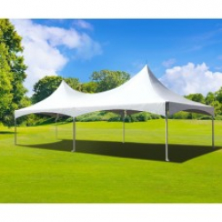 White 20' X 30' Double High Peak Marquee Tent