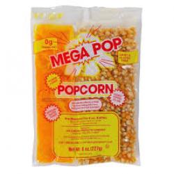 Popcorn 250 Servings Incl. Bags
