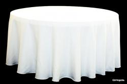 White 60 Round Table Linen