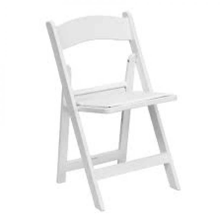 White Adult Padded Chair