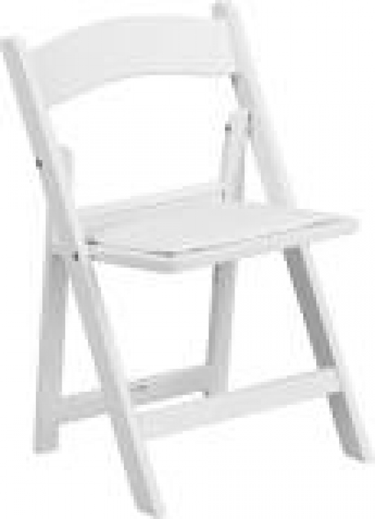 White Child Padded Chair